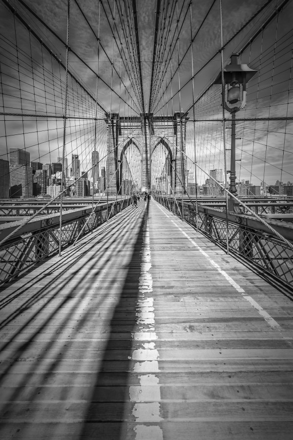 NEW YORK CITY Brooklyn Bridge Canvas Print