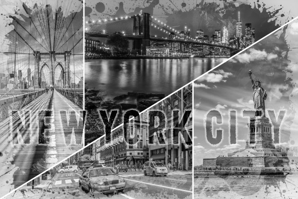 NEW YORK CITY Urban Collage No. 2 Canvas Print