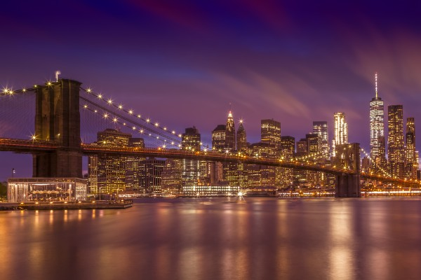 BROOKLYN BRIDGE Sunset  Canvas Print