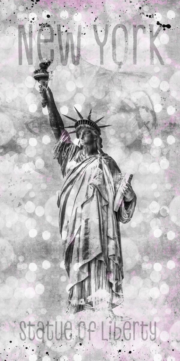 Graphic Art NEW YORK CITY Statue of Liberty Canvas Print
