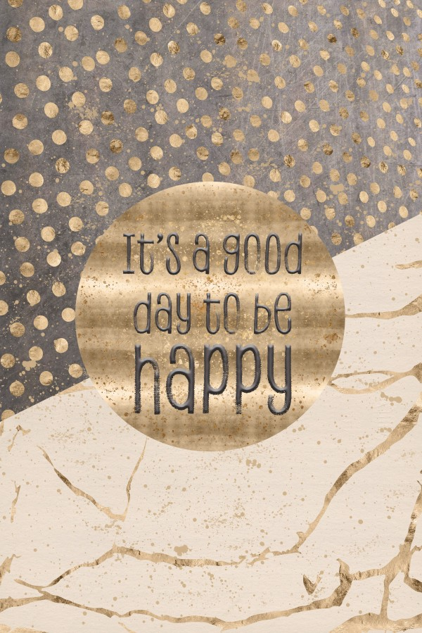 GRAPHIC ART It is a good day to be happy Canvas Print