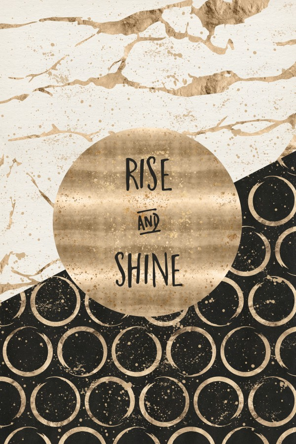 GRAPHIC ART Rise and shine Canvas Print