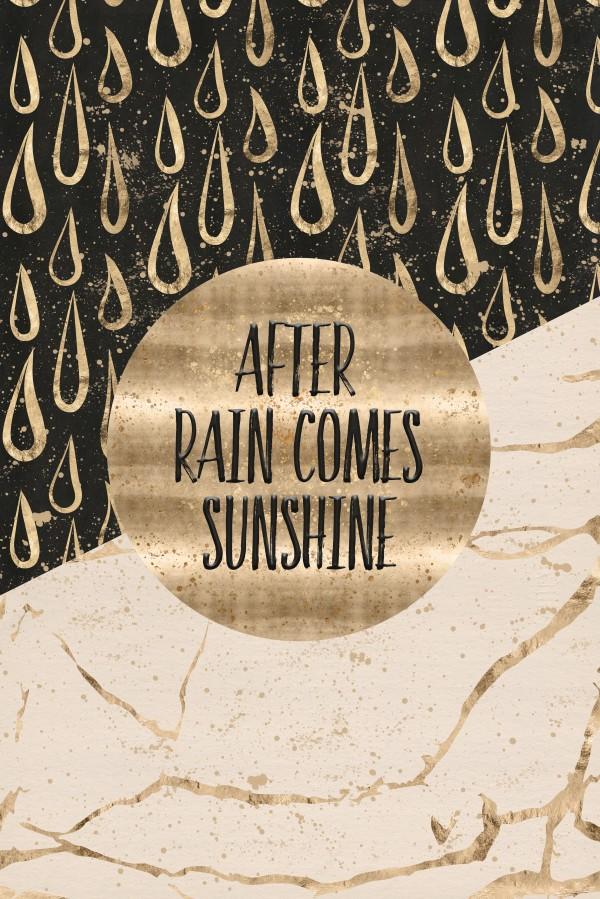 GRAPHIC ART After rain comes sunshine Canvas Print
