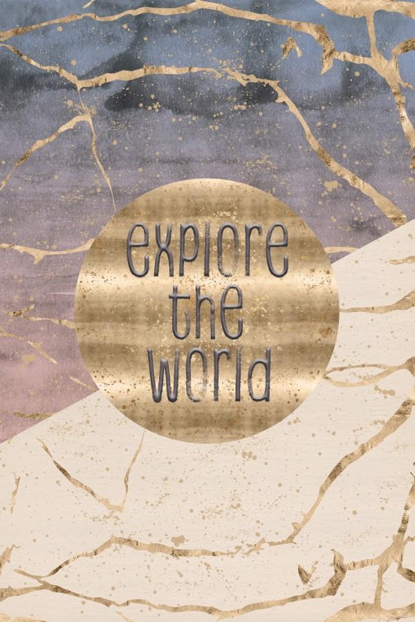 GRAPHIC ART Explore the world Canvas Print