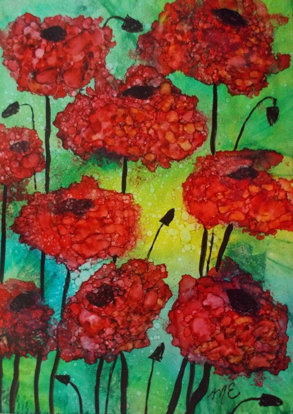 Thinking of Poppies by Michelle Erickson