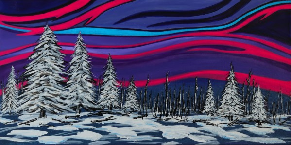 Snowy Trees Chinook Art IMG_0180 by Mike Gould Photoscapes