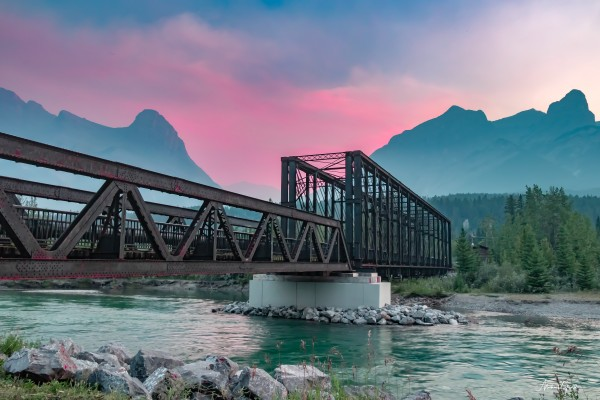 The Engine Bridge Canmore  by Mike Gould Photoscapes