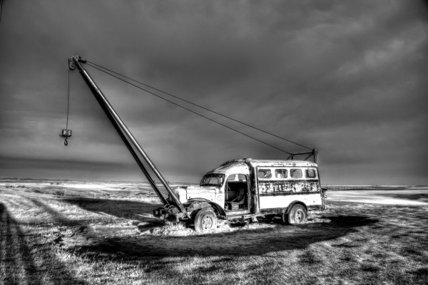 Vintage Boom Truck by Mike Gould Photoscapes