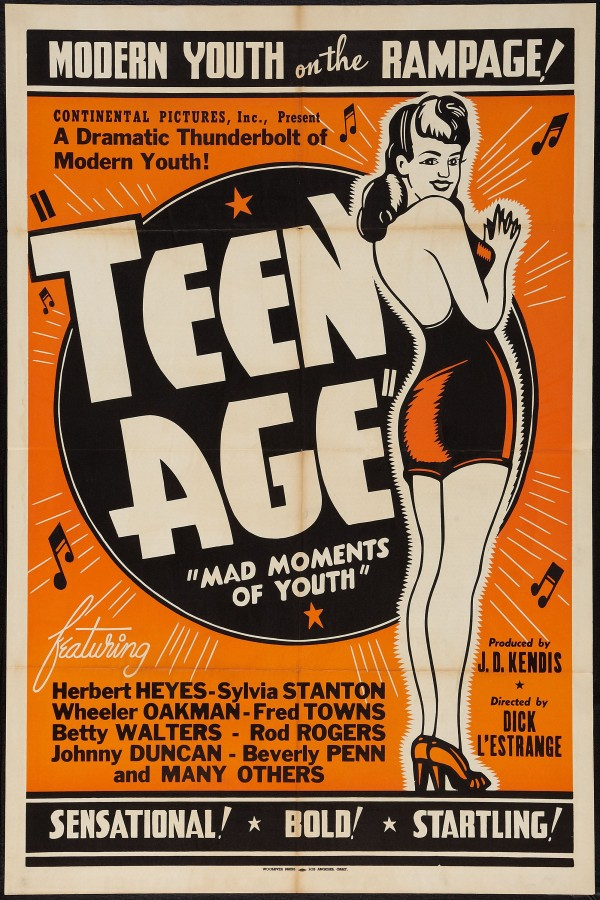 Modern Youth On The Rampage Teen Age Mad Moments Of Vintage Theater Poster
