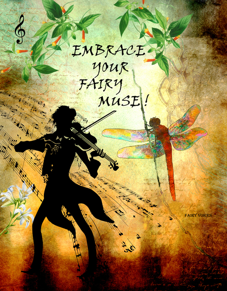 EMBRACE YOUR FAIRY MUSE -ART- For Violinist by Nazan Saatci
