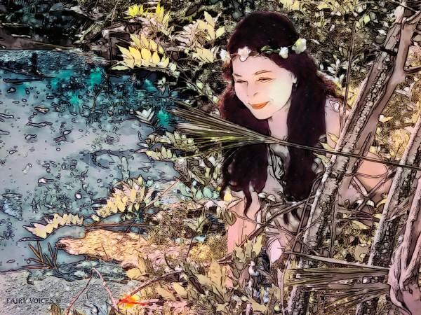 FAIRY AND THE LAKE  Art-Photo 1-4  by Nazan Saatci