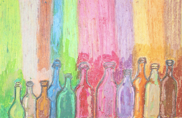 Colorful bottles by Pallavi Sharma