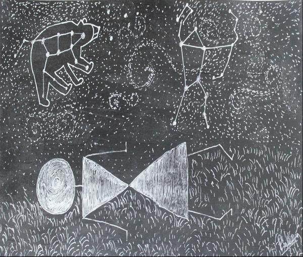 Daydreaming--Warli Tribal art by Pallavi Sharma