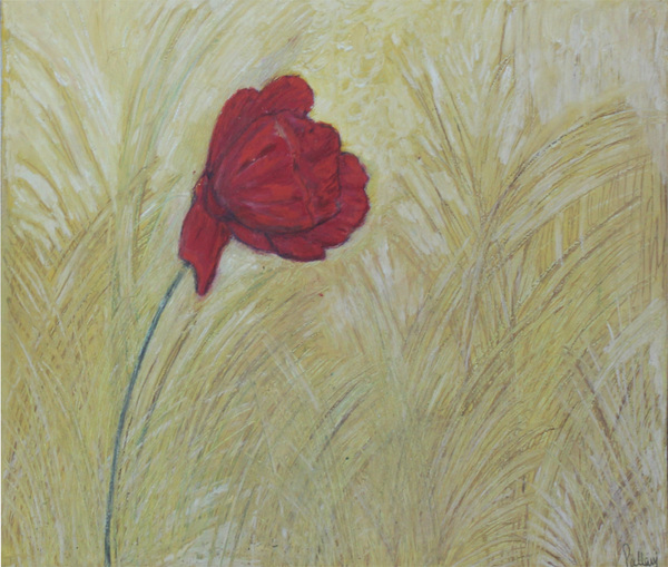 one red flower by Pallavi Sharma