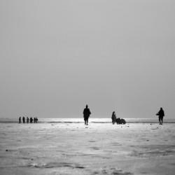 Clifton Beach in Karachi on sunset by Pavel Gospodinov