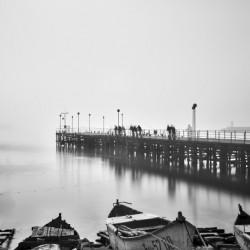 Foggy sea bridge by Pavel Gospodinov