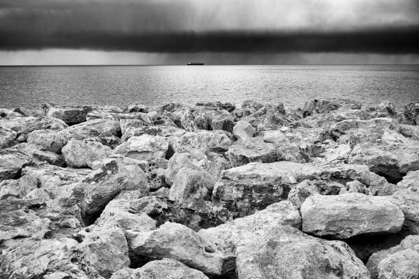Stormy weather at the beach by Pavel Gospodinov