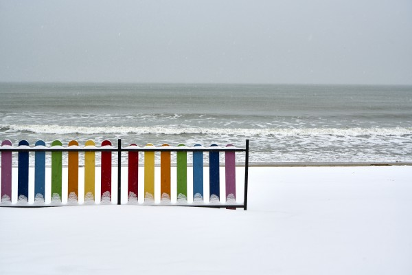 Winter beach by Pavel Gospodinov
