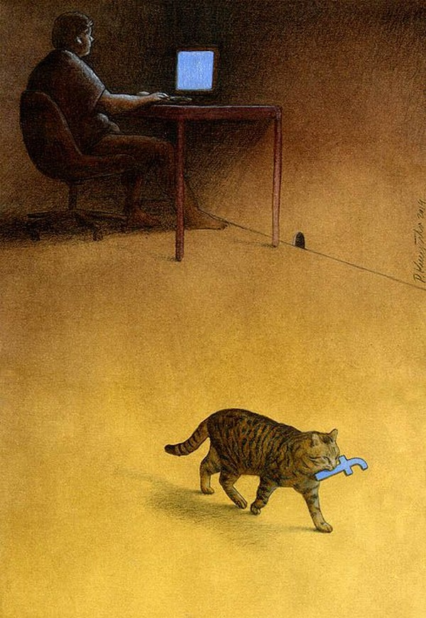 Modern Hunter , Pawel Kuczynski , facebook, cat, hunter