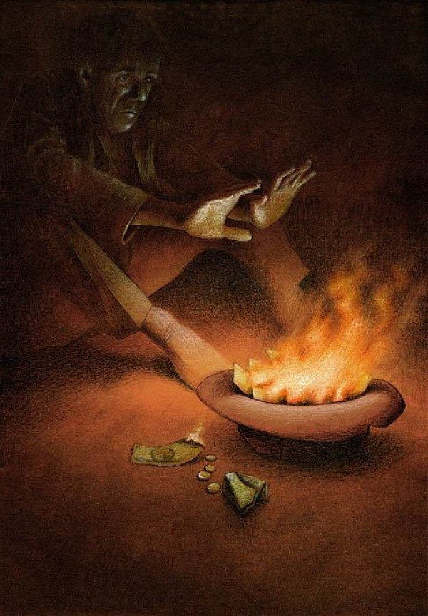 Money On Fire Pawel Kuczynski Canvas