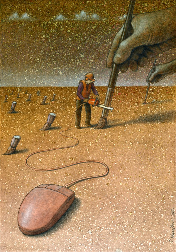 Modern art pawel kuczynski canvas for Meaningful paintings pictures