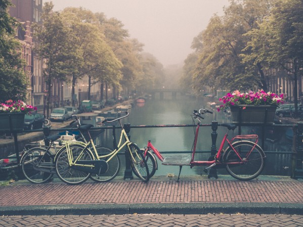 Fog in Amsterdam by Philip Champagne