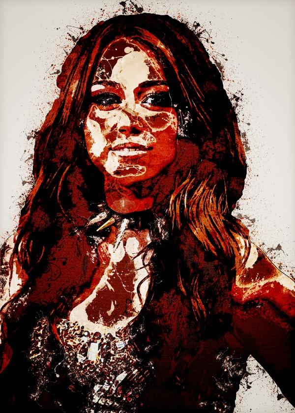 Miley Cyrus in Art 9 by RANGGA OZI