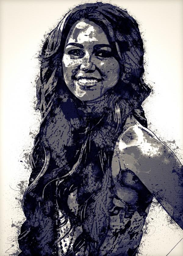 Miley Cyrus in Art 2 by RANGGA OZI