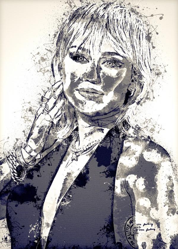 Miley Cyrus in Art 15 by RANGGA OZI
