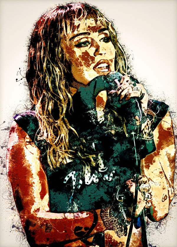 Miley Cyrus in Art 16 by RANGGA OZI