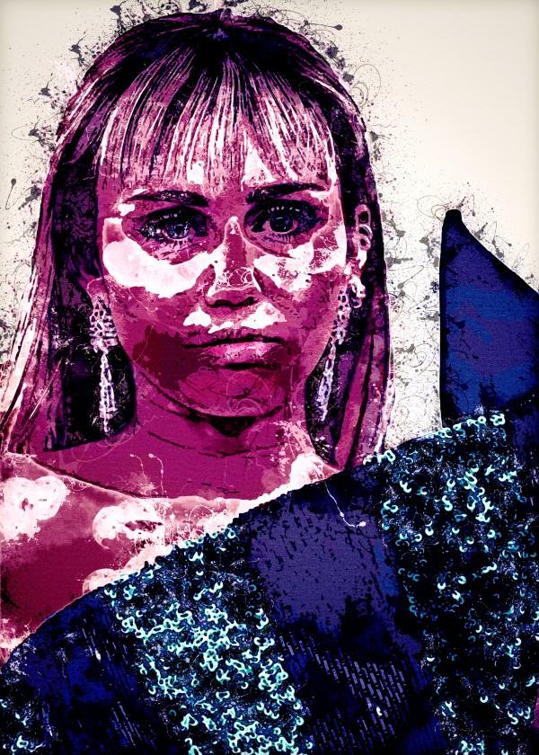 Miley Cyrus in Art 13 by RANGGA OZI