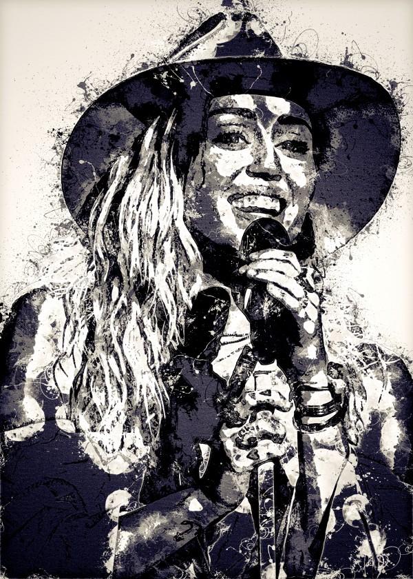 Miley Cyrus in Art 10 by RANGGA OZI