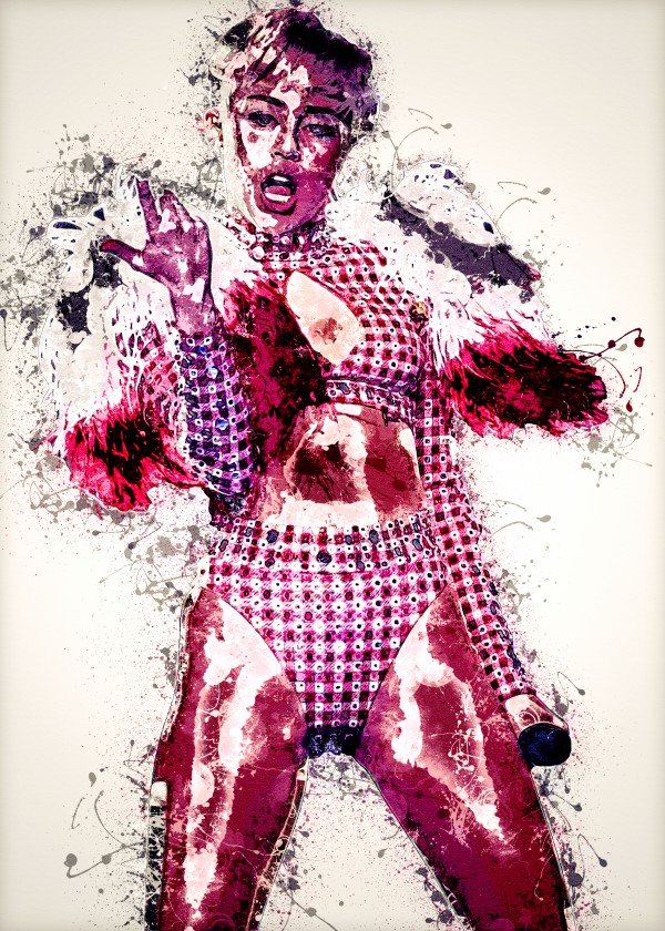 Miley Cyrus in Art 24 by RANGGA OZI