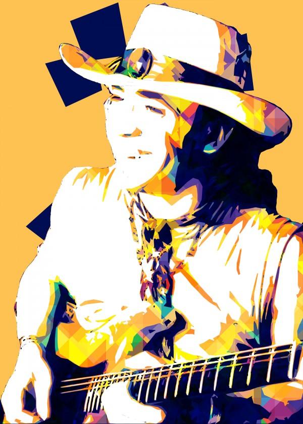 Stevie Ray Vaughan Pop Art 21 by RANGGA OZI