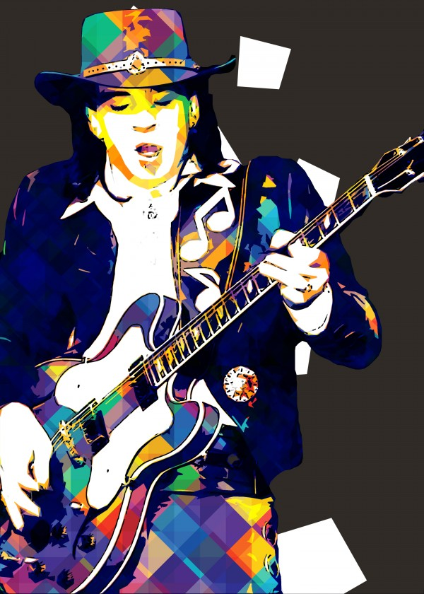 Stevie Ray Vaughan Pop Art 15 by RANGGA OZI