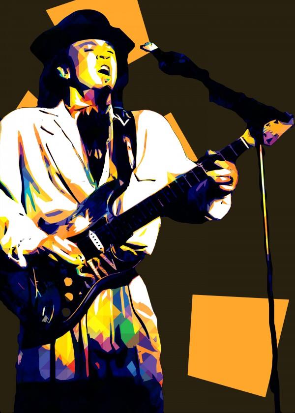 Stevie Ray Vaughan Pop Art 14 by RANGGA OZI