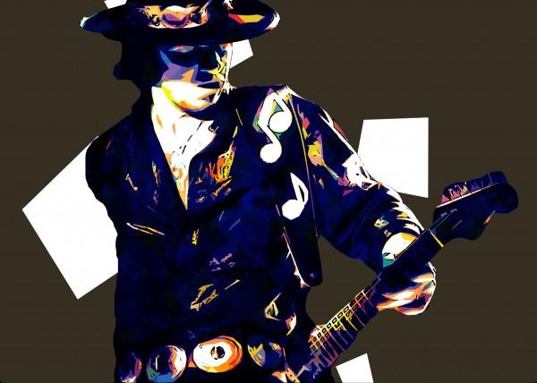 Stevie Ray Vaughan Pop Art 19 by RANGGA OZI