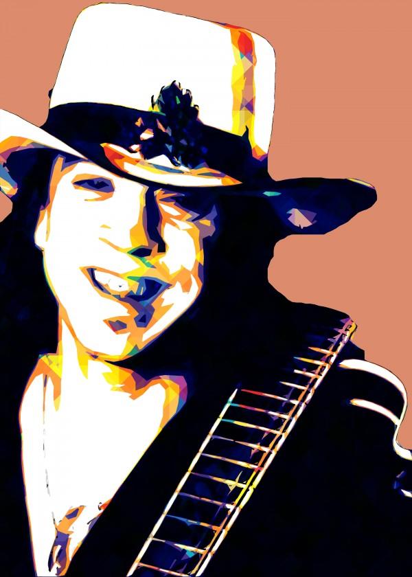 Stevie Ray Vaughan Pop Art 18 by RANGGA OZI