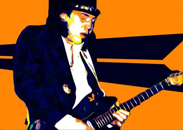 Stevie Ray Vaughan Pop Art 17 by RANGGA OZI