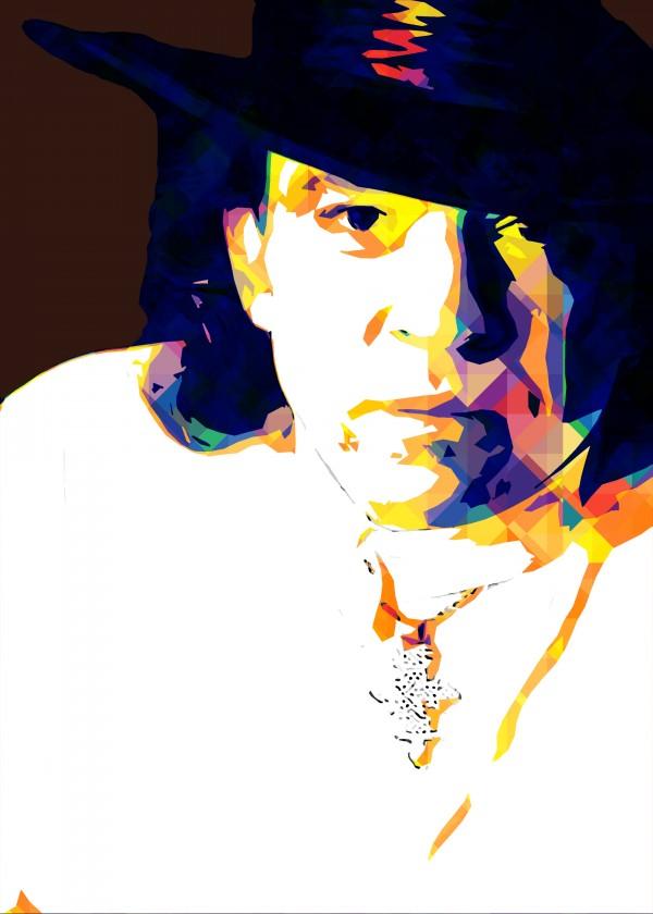 Stevie Ray Vaughan Pop Art 12 by RANGGA OZI