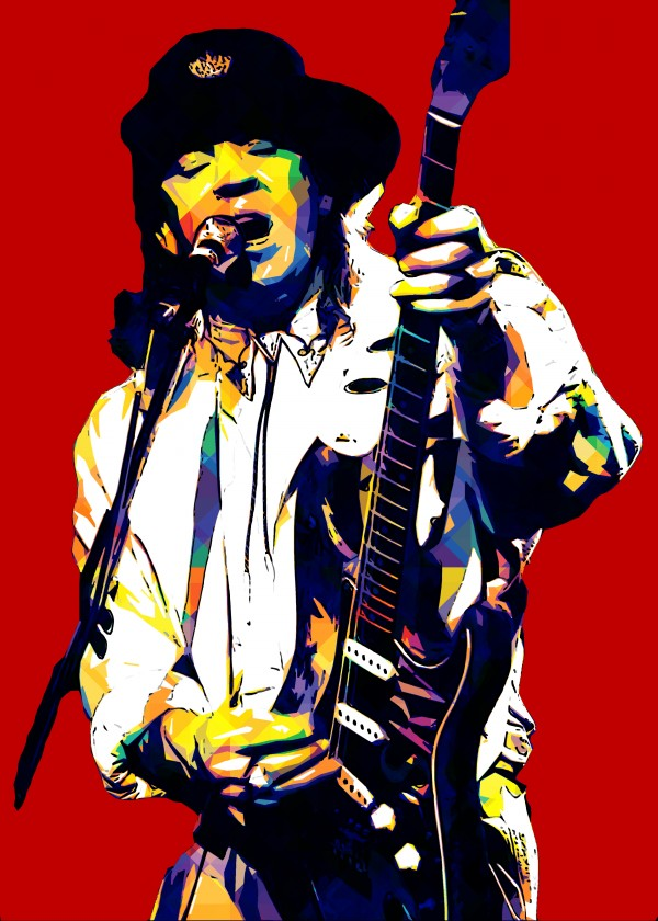 Stevie Ray Vaughan Pop Art 10 by RANGGA OZI