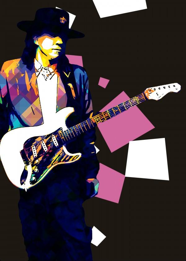 Stevie Ray Vaughan Pop Art 30 by RANGGA OZI