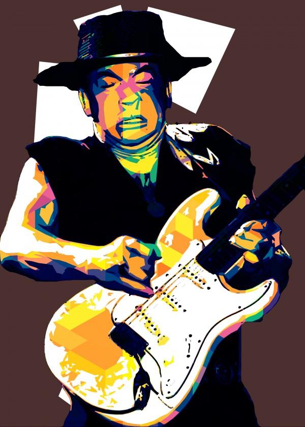 Stevie Ray Vaughan Pop Art 25 by RANGGA OZI