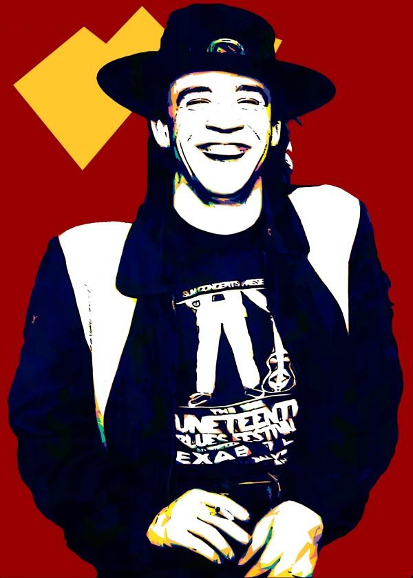 Stevie Ray Vaughan Pop Art 22 by RANGGA OZI