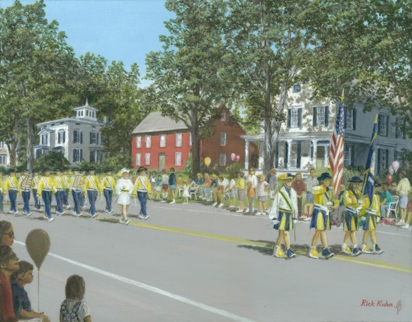 Labor Day Parade - Newtown Scenes  14X18 by Rick Kuhn