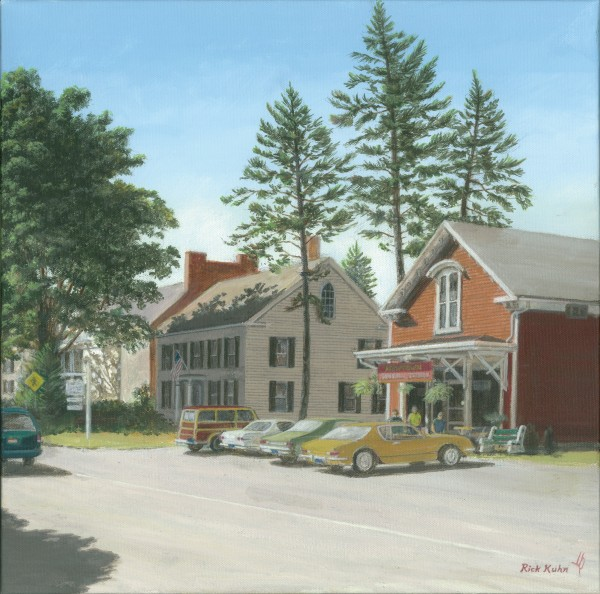 The General Store - Newtown Scenes 16X16 by Rick Kuhn