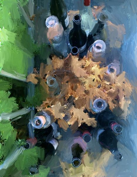 Wine Bottles Digital Download