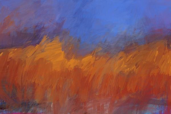 Orange and Blue Landscape Digital Download