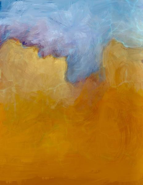 Big Orange Cloud Digital Download
