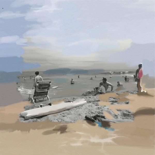 Beach Scene Digital Download